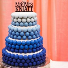 220x220 sq 1445442496840 blue ombre wedding cake knaitt