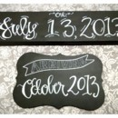 130x130 sq 1373755095769 crystal and mike chalkboard 2