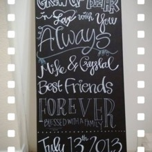 220x220 sq 1373755110293 crystal and mike chalkboard 1