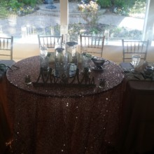 220x220 sq 1467119718942 head table with sweet heart and bling table cloth