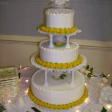 220x220 sq 1368295395643 wedding cakes 218