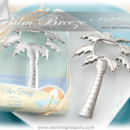 "http://www.warmimpressions.com - ""Palm Breeze"" Chrome Palm Tree Bottle Opener Favors - Item: 11125NA - 75% OFF - It wouldn't be the tropics without palm trees, would it? If you're celebrating on a beach somewhere, chances are it's warm and breezy--just right for an ice-cold bottle of, well, just about anything. Let a palm pop the top on your gratitude to guests with our gleaming, palm-sized bottle opener!"