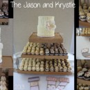 130x130 sq 1372903347309 krystle  jason wedding cake