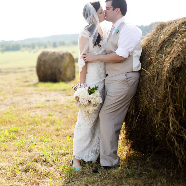 atlanta haircuts rustic teal farm wedding in wedding real weddings 3691