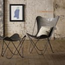 130x130 sq 1371256882494 brown metal lounge chair