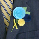130x130 sq 1372294175470 boutonniere aqua saph and yellow traditional style