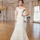 6245 Lace, tulle mermaid dress accented with a sweetheart neckline