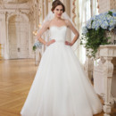 6347 Tulle ball gown adorned with a sweetheart neckline
