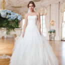 6354 Tulle, venice lace ball gown complemented with a sweetheart neckline