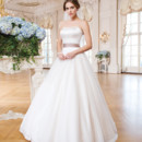 6359 Tulle and matte satin ball gown accented with a sweetheart neckline