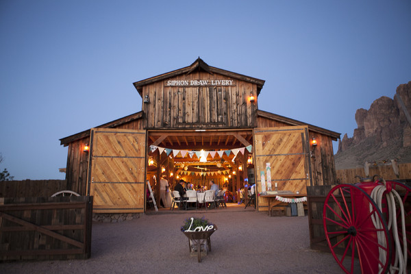 Mining camp restaurant our rustic barn apache junction for What is wedding venue