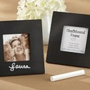 Chalkboard photo frame/place card holder for your rustic wedding