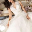 Simple Princess V-neck Floor-length Organza White Wedding Dresses Price:$186.99 Link:http://www.trendget.com/simple-princess-vneck-floorlength-organza-white-wedding-dresses-p-122256.html