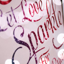 These signs are perfect for the evening reception highlight, the sparkler send-off. Each print features customized script typography. A photo of glitter bokeh peeks through the elegant script. The colors and text are customizable to fit in with your wedding decor. http://www.Alley9CreativeStudio.etsy.com