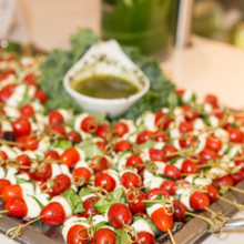 220x220 sq 1386080251159 mozzarella balls and tomato skewer