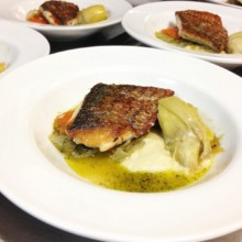 220x220 sq 1414773544365 wine dinner fish