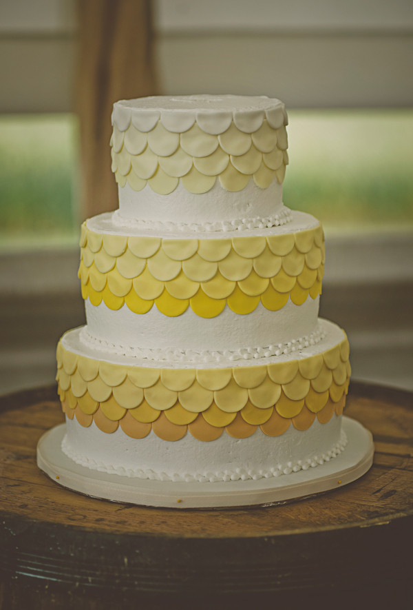 Yellow Wedding Cake Wedding Cakes Photos & Pictures - WeddingWire.com