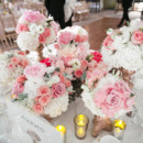 Venue: The Langham Huntington  Event Planner: Brit Bertino  Event Excellence  Floral Designer: Butterfly Floral  Ceremony Musicians: Pacific Harps  DJ: DJ Craig  Makeup Artist: Beso Makeup Artistry