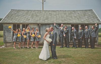Rustic Gray And Yellow Barn Wedding Wedding Real Weddings