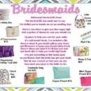 Great idea for your Bridesmaid, a survival kit for the day of the wedding in a bag they will be able to use for years to come.