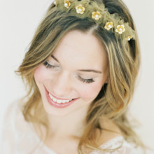 220x220 sq 1394716206188 gold flower tulle crown hushed commotio