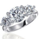"""Twinset"" 3 Stone Engagement Ring"