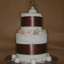 2 Tier Honeymoon Towel Cake