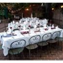 Reception Tables in Burgundy & Gray Summer Wedding