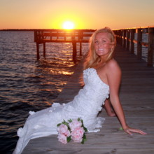 220x220 sq 1421183925350 bride sitting on pier