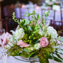 Venue: HollyHedge Estate  Floral Designer: Mark Bryan Designs  Dress Designer: Reem Acra  Bridal Shoes: Jimmy Choo  Makeup Artist: Daniel K. Makeup