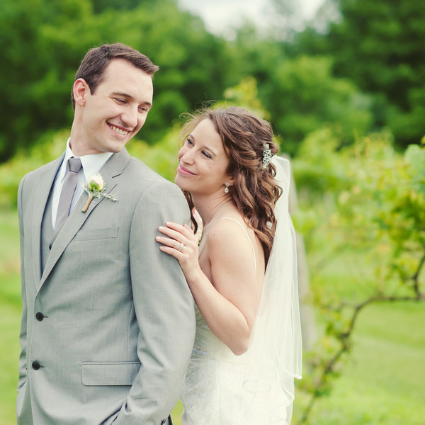 Venue: Castle Finn Winery Dress Store: David's Bridal Men's Attire: JC Penney