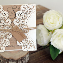 220x220 sq 1447113807318 janice paper lace with kraft paper and tag