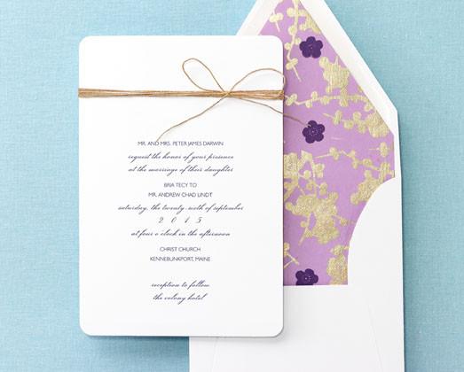 1379535567442 Checkerboard Brides Purple Flowered Liner Wilbraham Wedding  Invitation
