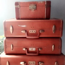 220x220 sq 1449890760370 brown suitcases
