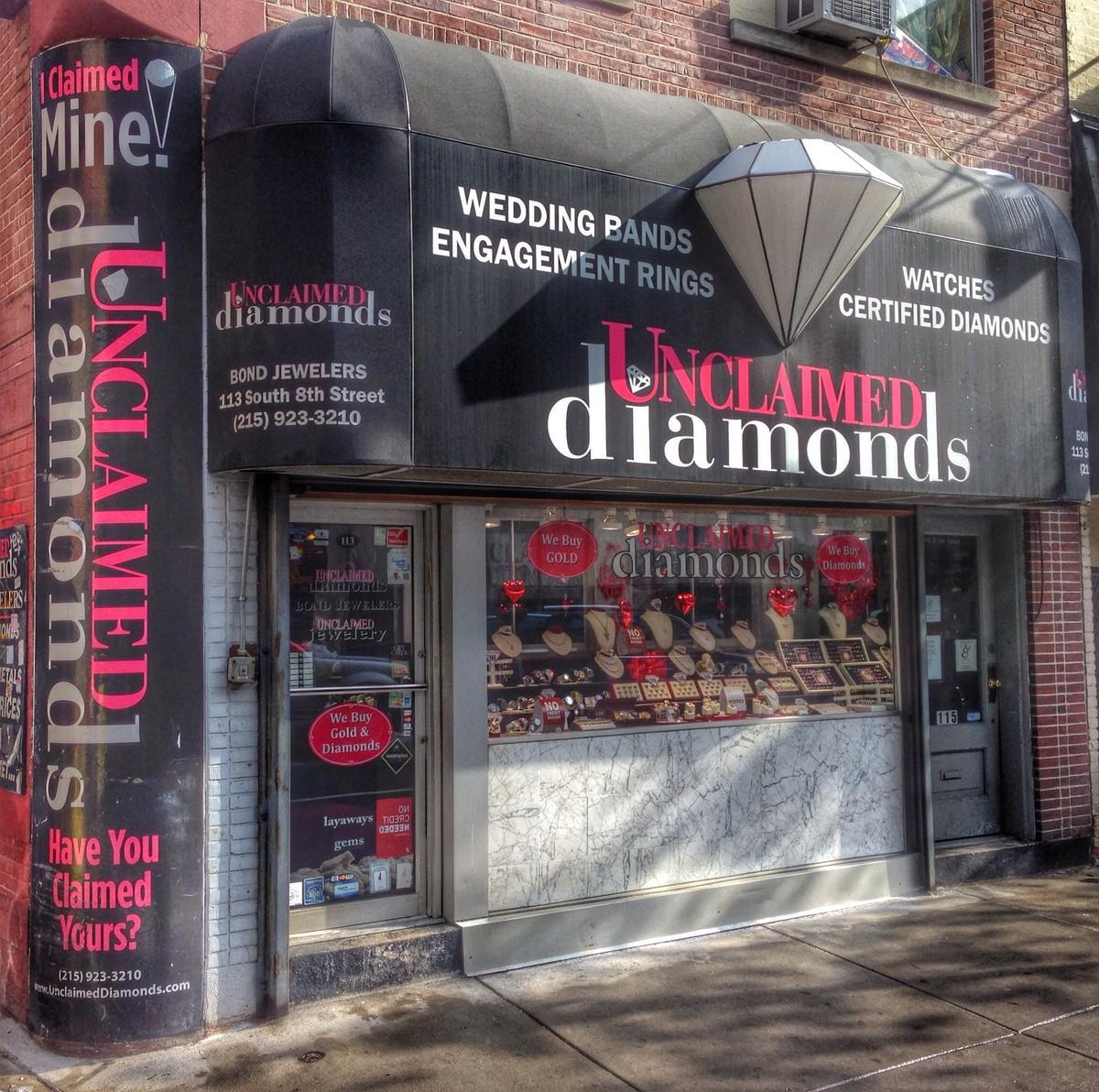 unclaimed diamonds Wedding Jewelry Pennsylvania Philadelphia