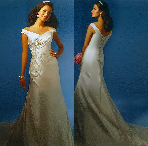 1383080230002 Alfred Angelo Dress Style 2032 Fron Parkville wedding dress