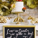 <p>  </p>  <p> Cake: Publix Bakery</p>  <p> Event Planner: Jessica Parks Rourke of Parkside Wedding Studio</p>  <p> Reception Venue: 701 Whaley</p>