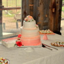 This ombre cake perfectly matched the Colorado sunrise the evening of the reception.