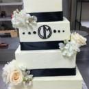 130x130 sq 1397581996912 black and white wedding cake w monogra