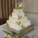 130x130 sq 1397582025975 wedding cakes square orchids gree