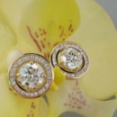 130x130 sq 1392390997642 yellow gold halo stud earring