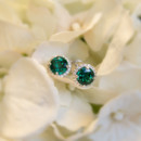 130x130 sq 1392392366024 emerald halo earrings full edi