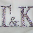 Couples Monogram covered in Tanzanite, Silver Shade, Light Amethyst and Light Rose