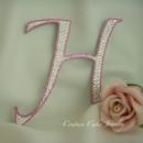 130x130 sq 1373593379971 pristige h monogram cake topper