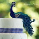 130x130 sq 1400024289003 custom peacock cake toppe