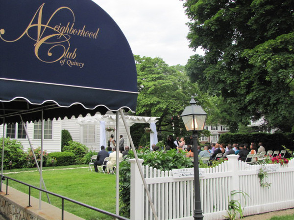 The neighborhood club of quincy quincy ma wedding venue for Outdoor wedding venues ma