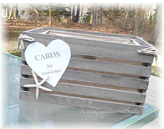 Nautical Wedding Card Box Photo Album Weddings Center – Beach Wedding Card Boxes