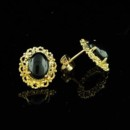 Vintage Style Onyx Earrings 14K Yellow Gold http://www.orospot.com/product/e358ma/vintage-style-onyx-earrings-14k-yellow-gold.aspx SKU: E358MA $199.00 Vintage style oval cabochon black onyx with twisted wire work around 4 prong set onyx. Earrings are made of 14k yellow gold and are 13mm long, 11mm wide (5/10 x 4/10).