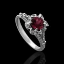 Vintage Style Flower Diamond Pave Pink Tourmaline Engagement Ring 14K White Gold http://www.orospot.com/product/r1000ven/vintage-style-flower-diamond-pave-pink-tourmaline-engagement-ring-14k-white-gold.aspx SKU: R1000VEN $1,199.00 Uniquely designed diamond and round pink tourmaline (Approx. 1cttw) engagement ring in 14K white gold. This beautiful flower ring contains pave set round cut diamonds (G-VS quality, .31cttw) and is available in all sizes, please contact us for your size preference.
