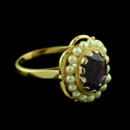 Inspired by Victorian Style Oval Amethyst Scalloped Bezel And Cultured Pearls 14k Yellow Gold Ring http://www.orospot.com/product/r2237ma/inspired-by-victorian-style-oval-amethyst-scalloped-bezel-and-cultured-pearls-14k-yellow-gold-ring.aspx SKU: R2237MA $579.00 Ring Dimension: Top Height: 18 mm Width: 16.7 mm Shank Dimension: Width (top): 2.16 mm Width (bottom): 1.8 mm
